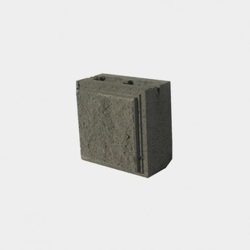 Декоративний колений блок половинка